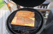 Jarabe de arce - Cedar Plank Salmon - huevo verde grande/parrilla Grill