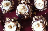 Mordeduras de Nutella plátano granola