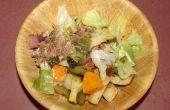 Asado ensalada de verduras con un toque de sur