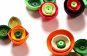 Cómo hacer flores de amapola tubulares usando papel arte Quilling | DIY