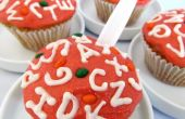 Cupcakes de sopa del alfabeto