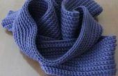 Cómo hacer una bufanda de ganchillo