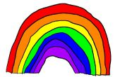 Cómo dibujar un arco iris