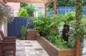 Ayudar a papá y construir un jardín impresionante