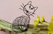 Cómo hacer un lindo cable negro envuelto Cat Craft para niños