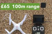 Barato listo para volar FPV quadcopter: £65 / $100, rango de 100 metros al aire libre