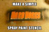 Plantilla simple pintura en aerosol