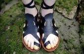 Pulpo de sandalias de cuero