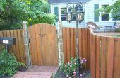 Construir una valla de madera curvado