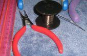 Collar de alambre hecha a mano