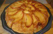 Panqueque de manzana al horno boca abajo