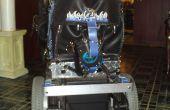 Tope posterior del sillón de ruedas
