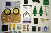 HackerBoxes 0001: Árbol de Navidad LED 3D coche inteligente robótica, NodeMCU,