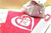 Hacer un valiente el tiempo día de San Valentín tarjeta y regalo e ir visita los enfermos
