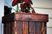 Caja de jardinera con palets