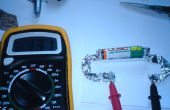 Probador de voltaje de la batería AA