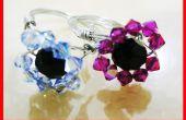 Cómo hacer rosca flor cristal anillo Tutorial