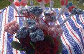 4 de julio patriótico centro de mesa con dulces patrios