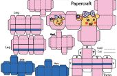 Cómo hacer Miss La Sen papercraft de robots