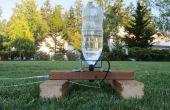 Cohete de agua de botella de 2 litros y la almohadilla de lanzador