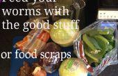 Hacer comida de gusano para el Wormery