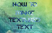 Cómo hacer medido «Texto» texto