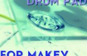 Drumpad hidrofóbico, para MaKey MaKey