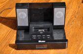 Amplificador estéreo de bajo presupuesto de un soporte para ipod, reutilización, recicla!