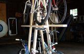 Estante de la bici de madera para 5 bicicletas, rápido y bajo costo construir