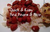 Rápido y fácil frijoles rojos y arroz