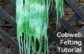 Parte 2 - Cómo hacer una bufanda de fieltro tela de araña