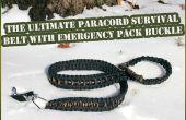 Hebilla de correa de Paracord de último sobreviviente con paquete de emergencia (menores de 20 $)