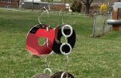 Techy de (reciclado de disco duro) carillón de viento