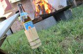 Sostenedor de botella de cerveza de hoguera