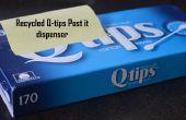 Reciclado de q-Tip caja dispensador de Post-It