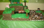 Torta de cumpleaños de Minecraft