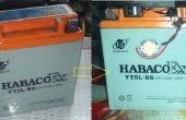 Gire la batería vieja, muerta en nueva emergencia luz y más