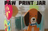 Pata de perro impresión Treat Jar