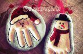 Navidad adornos de pasta de sal
