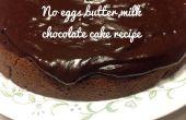 No leche, huevos, pastel de Chocolate de mantequilla