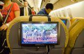 Montaje de asiento de avión tableta