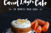 10 minutos en capas de torta de taza de zanahoria