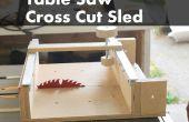 Cómo hacer una cruz cortada patín para una sierra de mesa