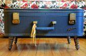 Hacer tu propia mesa de centro Vintage maleta