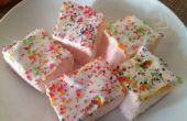 Delicious Marshmellow pudín de cuadrados