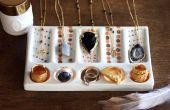 Exhibición de la joyería DIY de color de caramelo accesorios hechos a mano