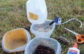 Construir un comedero de una jarra de la leche reciclada