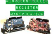 Manipulación de registro del microcontrolador