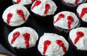 Cupcakes de mordedura de vampiro