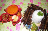 Satay de ternera Indonesia (Sate Daging)